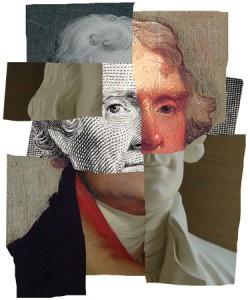 UVA Magazine composite portrait of Jefferson